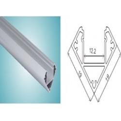 PERFILT37B Perfil aluminio 2mtrs para Tira Led Esquina.