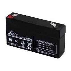 Bateria de plomo 6V 1,3A, dimensiones 97 x 24 x 51 mm
