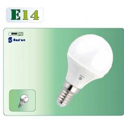Bombilla led E14 esférica