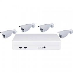 KIT NVR MINIATURA + 4 CAMARAS 720P + 5 PLC + HD500
