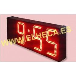 Reloj led exterior/interior hora temperatura