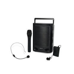 WAP 505 Sistema portátil bicanal VHF. Slot USB/SD. 75W