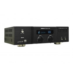 Amplificador/mezclador de instalación. Potencia de salida: 2x 60W @4 ohm. USB/SD. Bluetooth