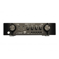 Amplificador/mezclador. Potencia de salida: 2x 36W @4 ohm. Entradas: 2 LINE + 2 MIC. USB/SD