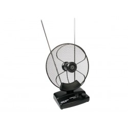 ANTENA ACTIVA PARABOLICA INTERIOR UHF VHF FM