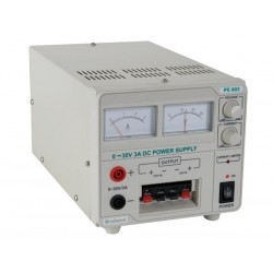 PS603 ALIMENTACIÓN PARA LABORATORIO (0-30VDC + 5VDC + 12VDC) CON DISPLAY ANALÓGICO